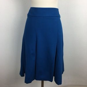 Eloquii Blue Pleated Skirt size 24